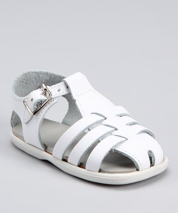White Addie Closed-Toe Sandal