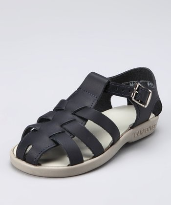 Navy Addie Closed-Toe Sandal