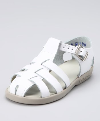 White Audrey Closed-Toe Sandal
