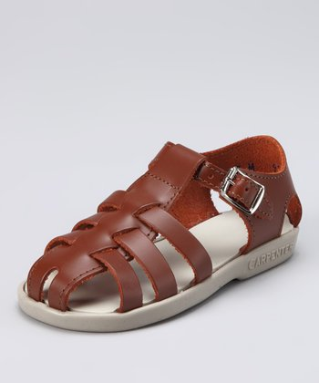 Brown Audrey Closed-Toe Sandal