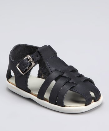 Navy Audrey Closed-Toe Sandal