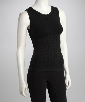 Black Slender Riding Tank - Women