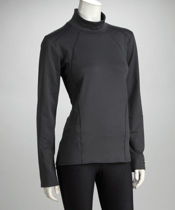 Kerrits Charcoal Fabrisuede Turtleneck - Women