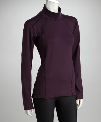 Kerrits Plum Fabrisuede Turtleneck - Women