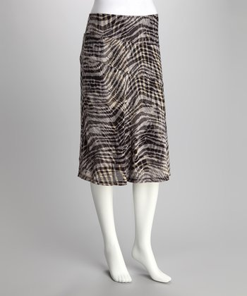 Black & White Zebra Tissue Skirt