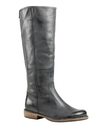 Darkish Gray Road Boot - Women