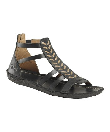Black Papaye W2 Gladiator Sandal - Women