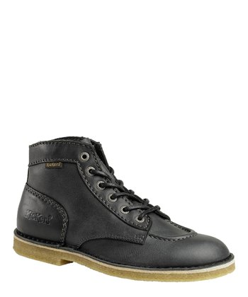 Black KickLeg Shoe - Men