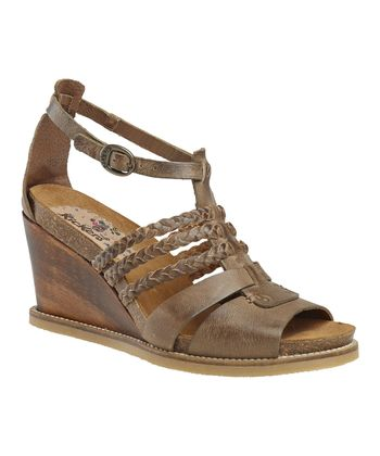 Dark Brown U-Find Wedge Sandal - Women