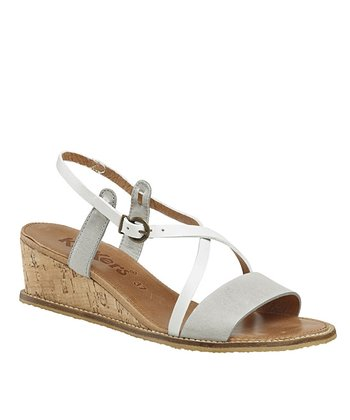 Light Gray Sushidue Wedge Sandal - Women