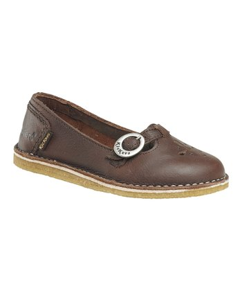 Dark Brown Kick Ball Flat - Women