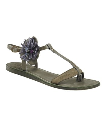 Dark Green Sofiste Sandal - Women