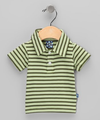 Spring Grass & Moss Bamboo Polo - Infant & Toddler