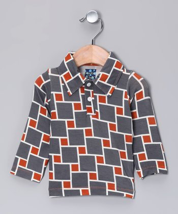 Red Cube Polo - Infant, Toddler & Boys