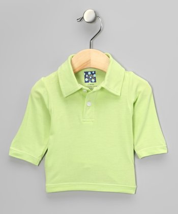 Spring Grass Long-Sleeve Polo - Infant & Toddler