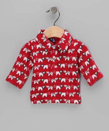 Crimson Lion & Tiger Bamboo Polo - Infant, Toddler & Boys