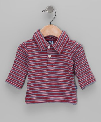 Crimson Stripe Bamboo Polo - Infant, Toddler & Boys