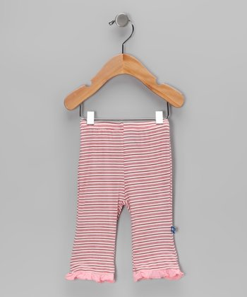 Natural Stripe Ruffle Pants - Infant & Toddler