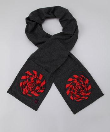 Charcoal Floral Pocket Scarf