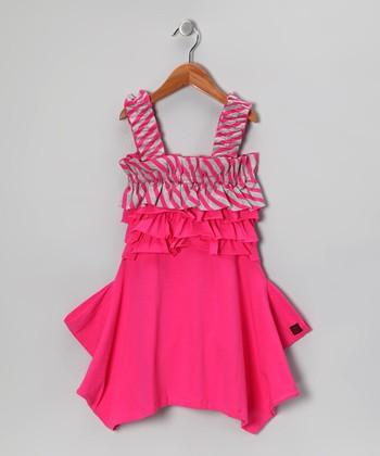 Raspberry Melinda Dress - Girls