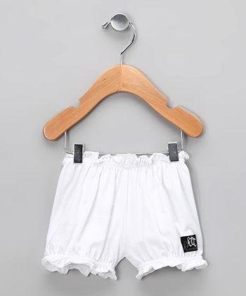 White Rosette Bloomers - Infant