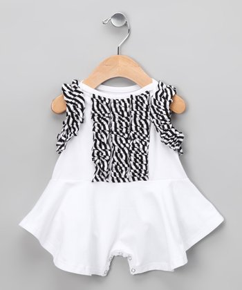 White Magnolia Romper - Infant