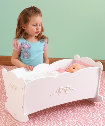 Tiffany Bow Doll Cradle