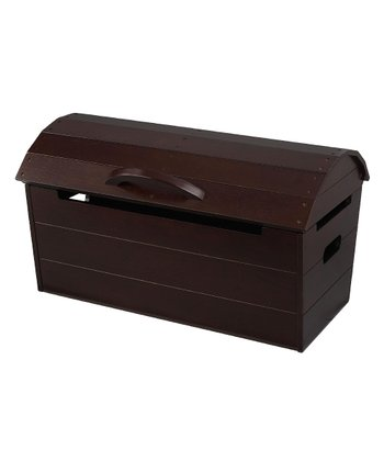 Brown Round-Top Storage Chest