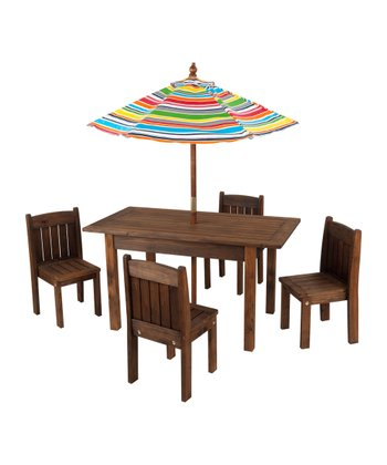 Outdoor Stacking Table & Chair Set