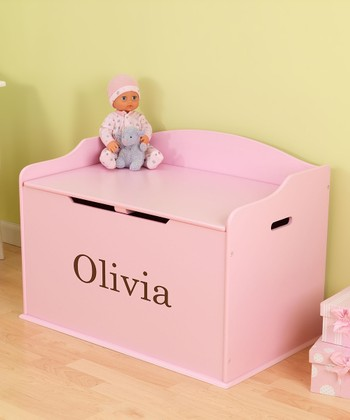 Pink Austin Personalized Toy Box