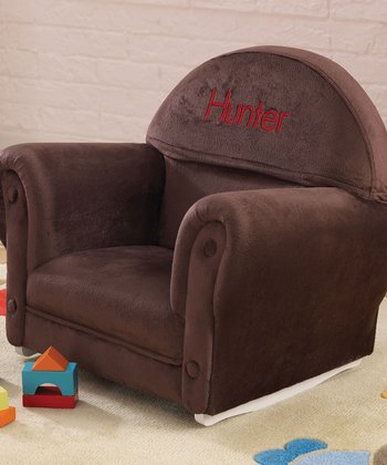 Chocolate Velour Personalized Rocker Chair