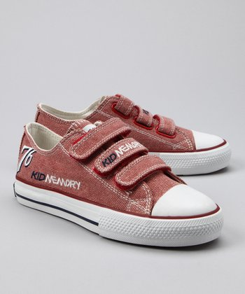 Brick Red Limited Edition Three-Strap Sneaker