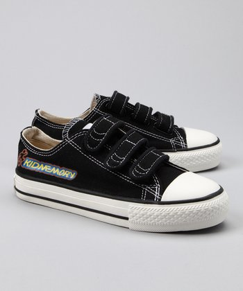 Black Classic Three-Strap Sneaker