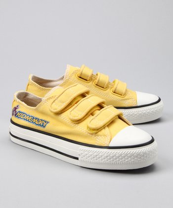 Yellow Classic Three-Strap Sneaker