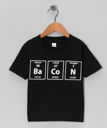 Black Periodic Table Bacon Tee - Toddler & Kids