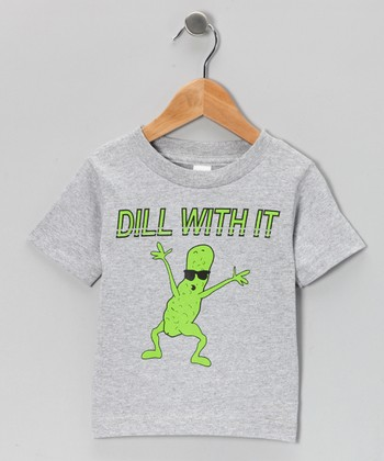 Athletic Heather 'Dill With It' Tee - Toddler & Kids