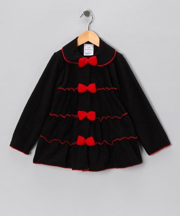 Kid Fashion Black Tiered Jacket - Infant, Toddler & Girls