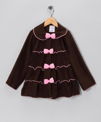 Kid Fashion Brown Tiered Jacket - Infant, Toddler & Girls