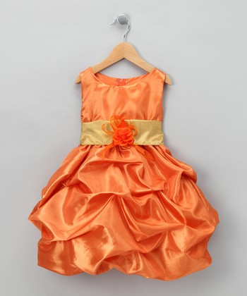 Orange Fancy Bon Bon Dress - Infant, Toddler & Girls