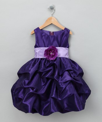 Purple Fancy Bon Bon Dress - Infant, Toddler & Girls