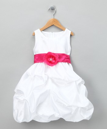White Fancy Bon Bon Dress - Infant, Toddler & Girls