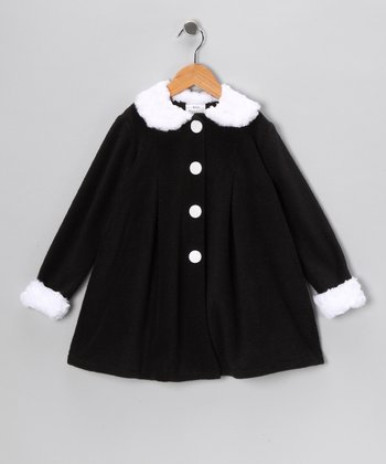 Kid Fashion Black & White Jacket - Infant, Toddler & Girls