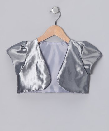 Kid Fashion Gray Satin Bolero - Infant, Toddler & Girls