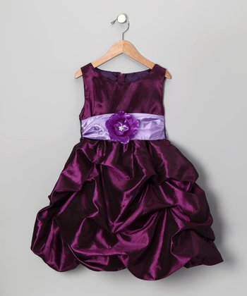 Plum Bon Bon Taffeta Dress - Infant, Toddler & Girls