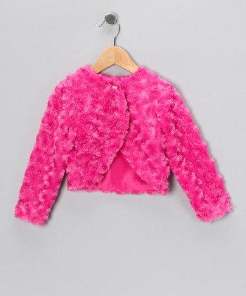 Fuchsia Minky Swirl Bolero - Infant, Toddler & Girls