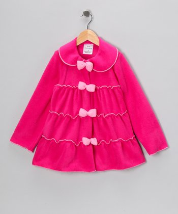 Kid Fashion Fuchsia Tiered Jacket - Infant, Toddler & Girls