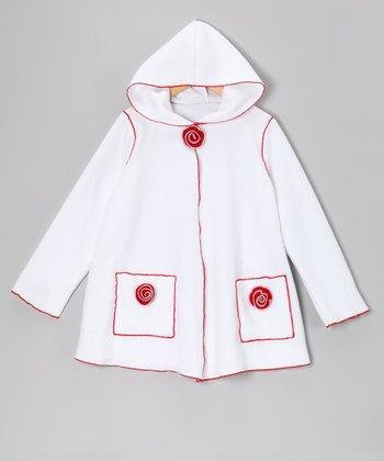 White Rose Fleece Jacket - Infant, Toddler & Girls