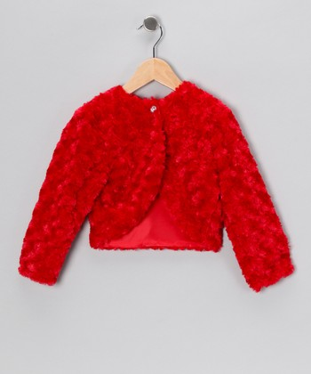 Red Minky Swirl Bolero - Infant, Toddler & Girls
