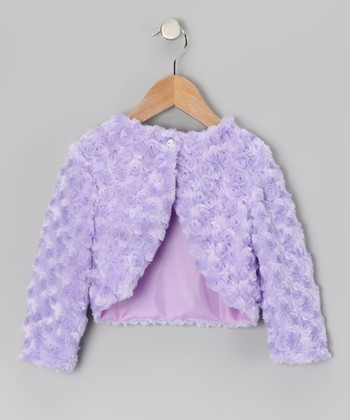 Lilac Faux Fur Bolero - Infant, Toddler & Girls