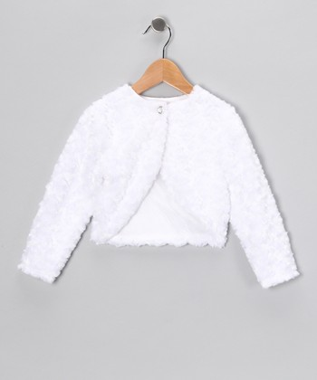 White Minky Swirl Bolero - Infant, Toddler & Girls